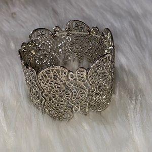 New Bohemian Lace Cuff Stretchy Filigree Bracelet